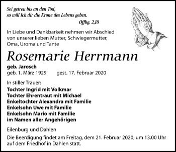 Rosemarie Herrmann