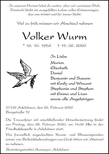 Volker Wurm