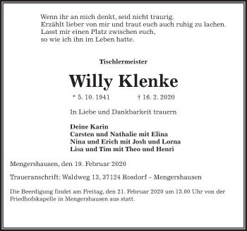 Willy Klenke