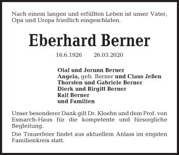 Eberhard Berner