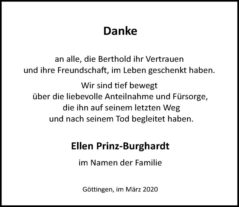 Traueranzeige von  Ellen Prinz-Burghardt
