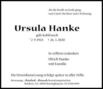 Ursula Hanke