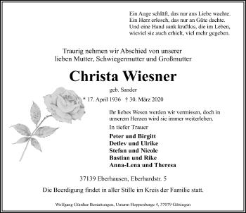 Christa Wiesner