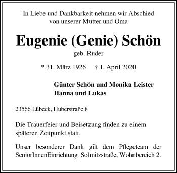 Eugenie Schön
