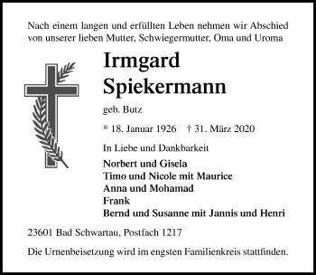 Irmgard Spiekermann