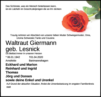 Waltraut Giermann
