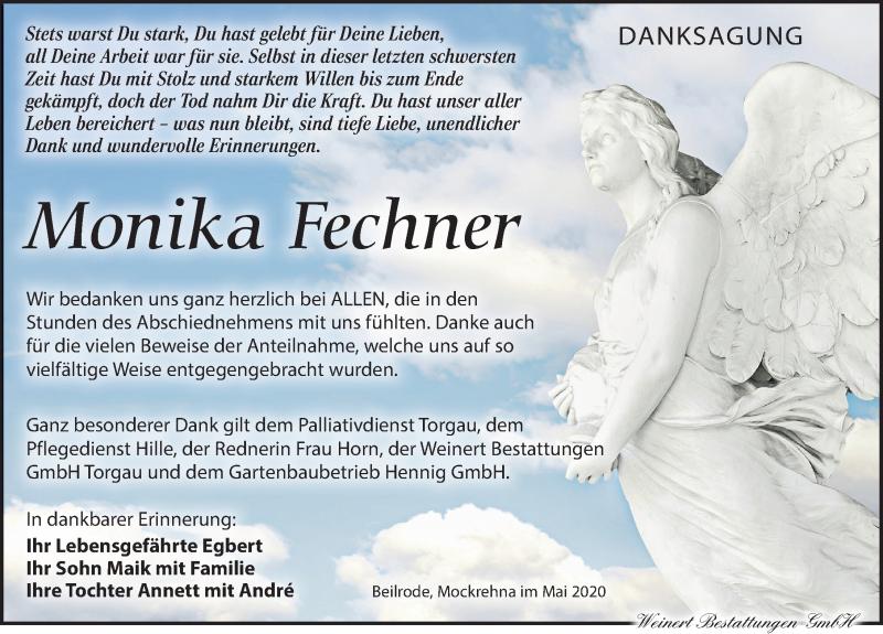 Traueranzeige für Monika Fechner vom 27.06.2020 aus Torgauer Zeitung