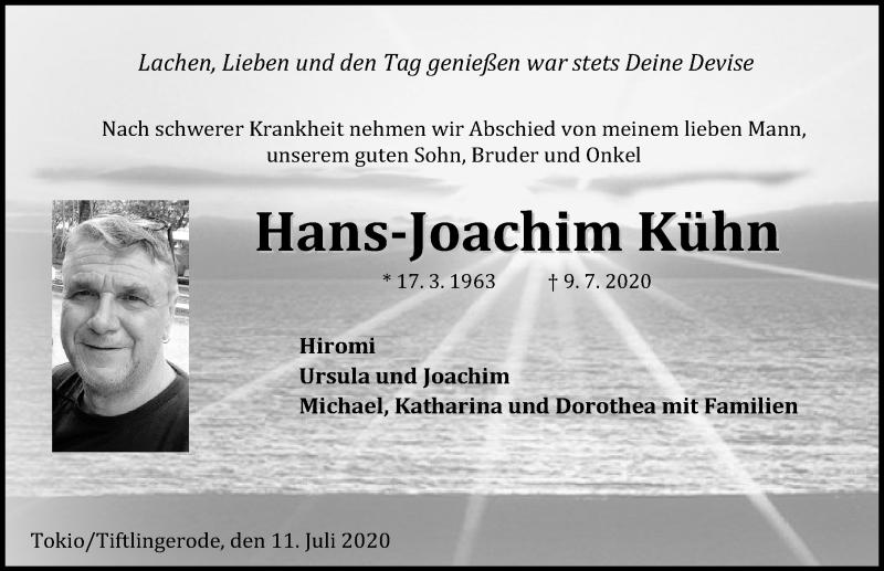Traueranzeige von  Hans-Joachim Kühn