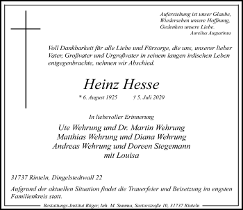 Heinz Hesse