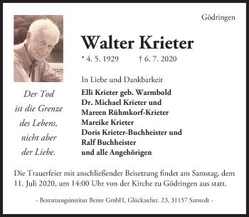 Walter Krieter