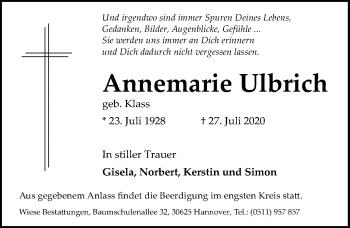 Annemarie Ulbrich
