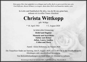 Christa Wittkopp
