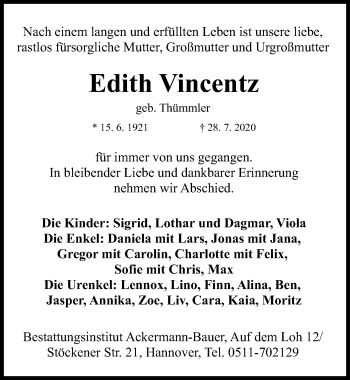 Edith Vincentz