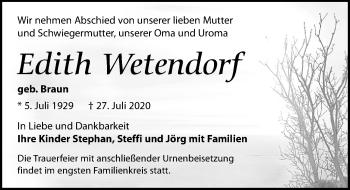 Edith Wetendorf