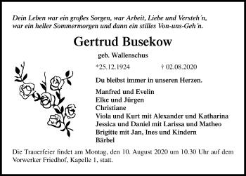 Gertrud Busekow