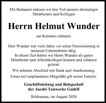 Helmut Wunder