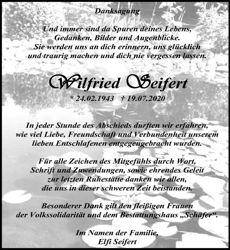 Traueranzeige für Wilfried Seifert vom 29.08.2020 aus Märkischen Allgemeine Zeitung
