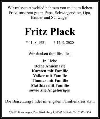 Fritz Plack