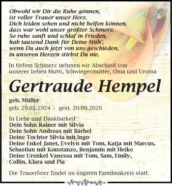 Gertraude Hempel