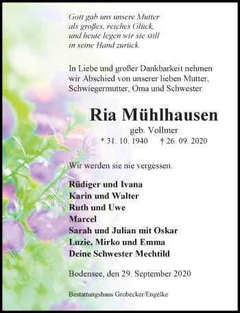 Ria Mühlhausen