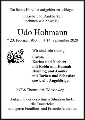 Udo Hohmann