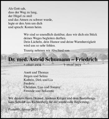 Astrid Schumann–Friedrich