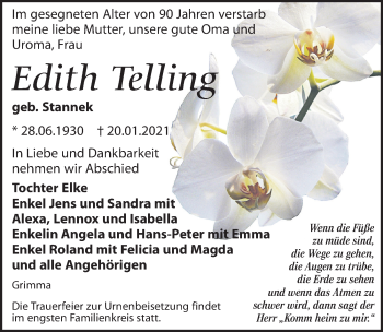 Edith Telling