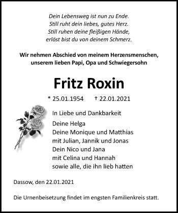 Fritz Roxin