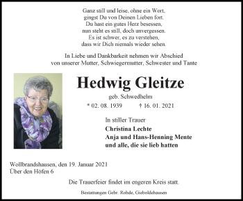 Hedwig Gleitze