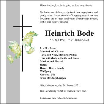 Heinrich Bode