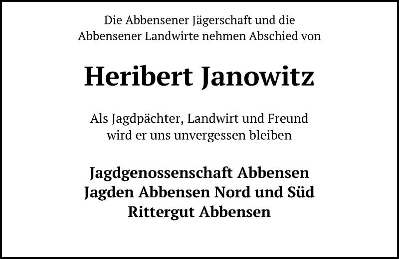 Traueranzeige für Heribert Janowitz vom 16.01.2021 aus Peiner Allgemeine Zeitung