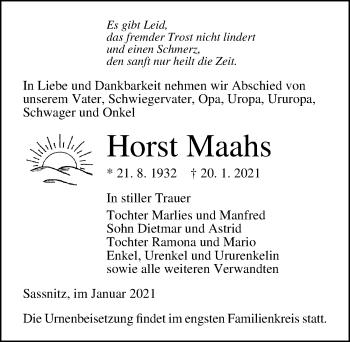 Horst Maahs