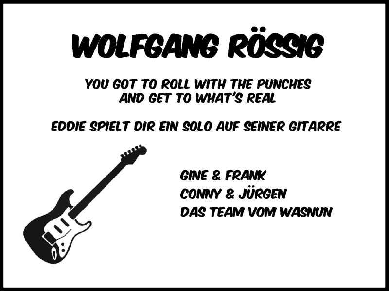 Traueranzeige für Wolfgang Rössig vom 07.01.2021 aus Hannoversche Allgemeine Zeitung/Neue Presse