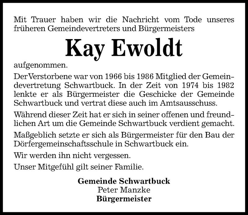 Traueranzeige für Kay Ewoldt vom 09.10.2021 aus Kieler Nachrichten