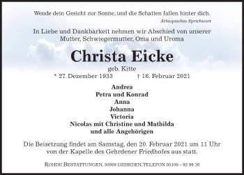 Christa Eicke