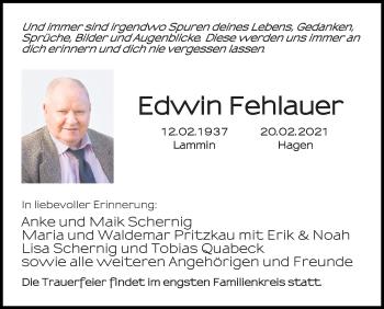 Edwin Fehlauer