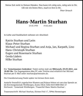 Hans-Martin Sturhan