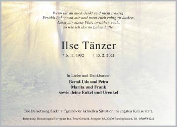 Ilse Tänzer