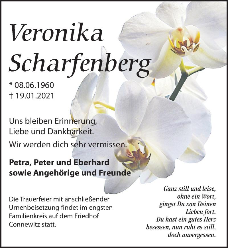 Traueranzeige für Veronika Scharfenberg vom 06.02.2021 aus Leipziger Volkszeitung