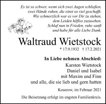 Waltraud Wietstock