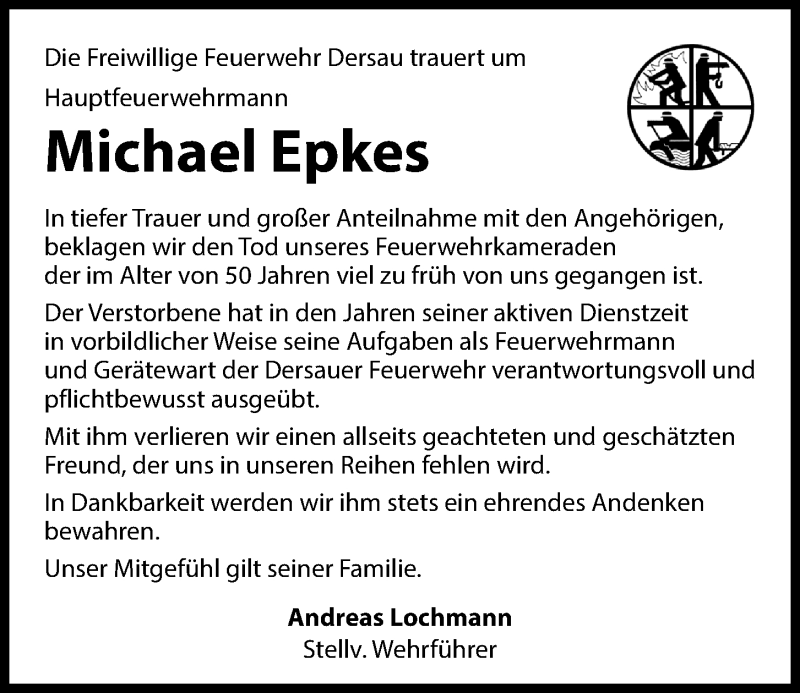 Traueranzeige für Michael Epkes vom 24.04.2021 aus Kieler Nachrichten