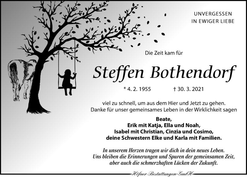 Traueranzeige für Steffen Bothendorf vom 03.04.2021 aus Leipziger Volkszeitung
