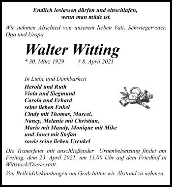 Walter Witting
