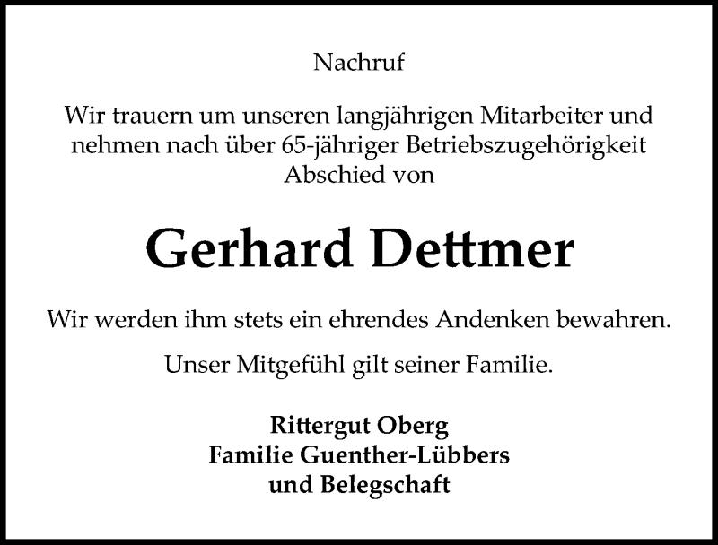 Traueranzeige für Gerhard Dettmer vom 03.05.2021 aus Peiner Allgemeine Zeitung