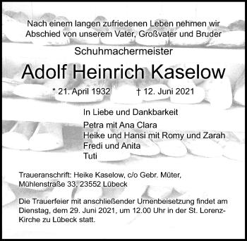 Adolf Heinrich Kaselow