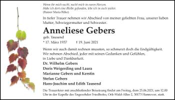 Anneliese Gebers