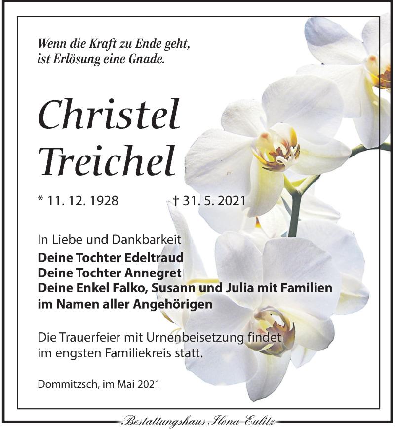 Traueranzeige für Christel Treichel vom 05.06.2021 aus Torgauer Zeitung