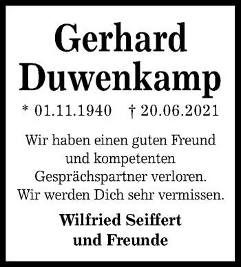Gerhard Duwenkamp