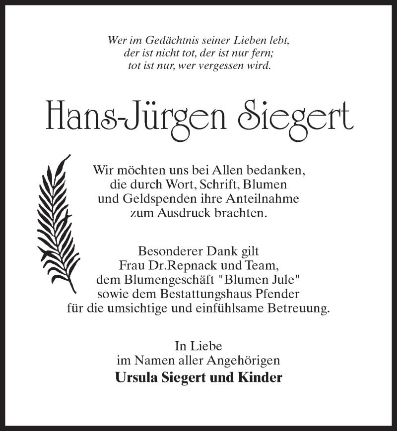 Traueranzeige für Hans-Jürgen Siegert vom 05.06.2021 aus Märkischen Allgemeine Zeitung
