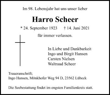 Harro Scheer